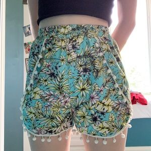 Tropical/floral  soft shorts